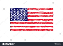 American Flag To Color Drawn American Flag Color Pencil And In Color Drawn American