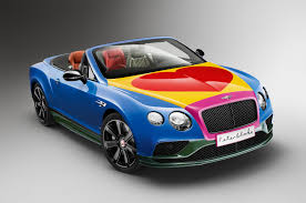 get your art car on with this bentley continental gt convertible