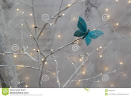 butterfly and christmas decorations stock photo image 46245575