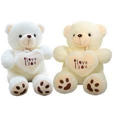 big valentines day teddy bears 1pc 50cm 70cm stuffed plush holding heart big plush teddy