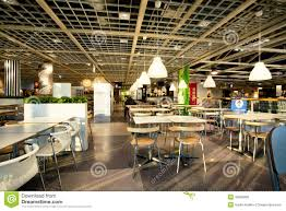 interior of the dining room in cafe of the huge ikea store