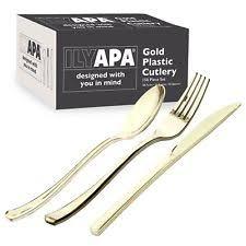 gold plastic silverware plastic silverware ebay