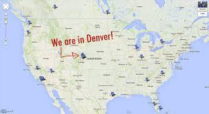 map us denver maps us map denver map usa indication state colorado denver stock