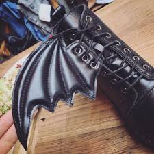 womens motorcycle boots fashion black detachable bat wing unique womens motorcycle boots daisy