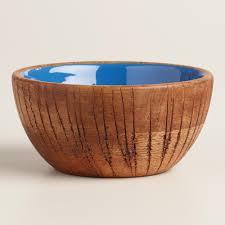 unique fruit bowl coconut wood salad bowl cobalt blue cobalt and bowls