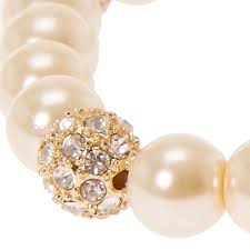 faux ivory pearl fireball bracelet icing us