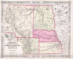 Maps Of Colorado File 1863 Johnson U0027s Map Of Colorado Dakota Idaho Nebraska