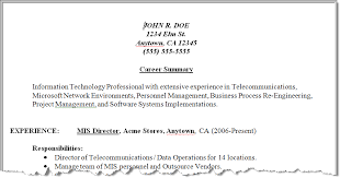 Resume Synopsis Sample by Results Of Our Resume Make Over Techrepublic