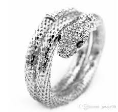 diamond bracelet cuff images 2018 luxury gold silver snake diamond bracelet cuff 2 layers jpg