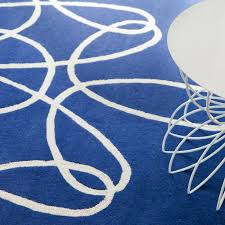 Blue And White Area Rugs Ribbon Area Rug Blue White
