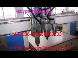 cnc router with auto tool changer multi spindles pneumatic multi