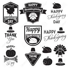 thanksgiving clip art set of thanksgiving clip art tags labels and badges with