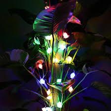 String Of Flower Lights by Novelty Romance 100 Led Rose Flower String Lights 10m Fairy