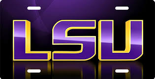 lsu alumni license plate schools universities custom made plates national flags gator