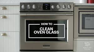 clean oven glass door how to clean an oven with baking soda u0026 vinegar kitchn