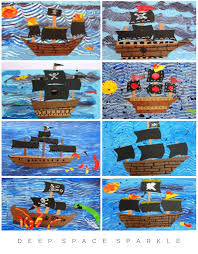 pirate ship art lesson for fourth grade deep space sparkle