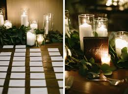Candle Lighting Chicago Spring Wedding At The Chicago Athletic Association Escort Card