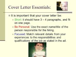 cover letter important cover letters purpose and importance why a cover letter the