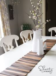 make your own table runner wood shim table runner diy shanty 2 chic