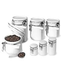 white ceramic kitchen containers floor decoration oggi food storage containers 7 piece set ceramic canisters kitchen gadgets kitchen