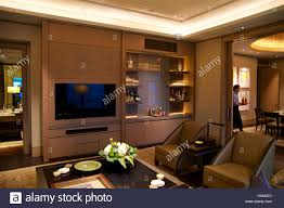 singapore july 23rd 2016 luxury hotel room with modern