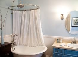 Clawfoot Tub Shower Curtain Ideas Shower Curtain Rod For Clawfoot Tub Gopelling Net