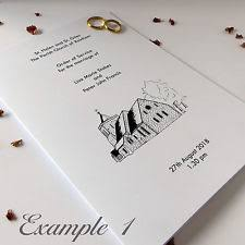 Catholic Wedding Booklet Order Of Service Wedding Supplies Ebay