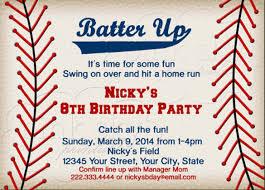 birthday invitations baseball birthday invitations 16 free psd vector eps ai