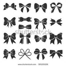 set of graphical decorative bows stock vector cute pattern