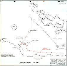 Guadalcanal Map Researcher Large Ca38 San Francisco Gunfire Damage Battle Of