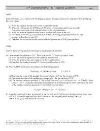 electrochemistry fr worksheet