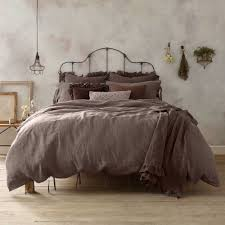 wamsutta vintage linen twin duvet cover in raisin bed bath beyond
