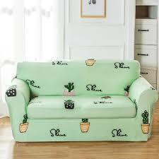 canapé extensible lumière vert cactus motif housse de canapé pour le salon universel