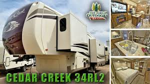 new luxury fifth wheel 2018 forest river cedar creek 34rl2 cc278