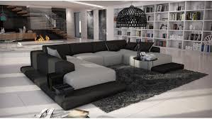 canapé d angle imitation cuir canapé d angle simili cuir gris clair et noir kherson gdegdesign