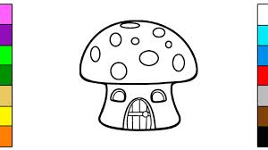 learning colors for kids with mushroom house coloring pages youtube