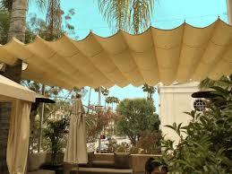 Material For Awnings Slide Wire Canopy Awning Retractable Shade For Backyard