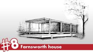 farnsworth house perspective drawing 8 famous architecture