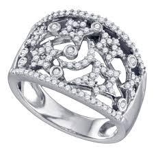 star rings diamonds images 14k white gold womens round diamond wide star pave set cocktail jpg
