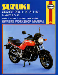 suzuki gsx gs1000 1100 u0026 1150 4 valves 79 88 haynes repair