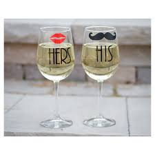 his hers wine glasses his hers wine glasses 2 and black mustache mr and mrs