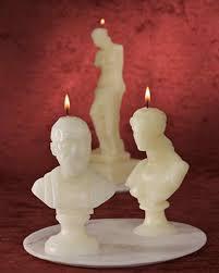 halloween busts hippocrates bust candle u0026 video martha stewart