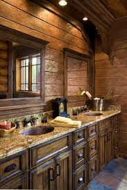 bathroom charming log cabin bathrooms precisioncraft home real