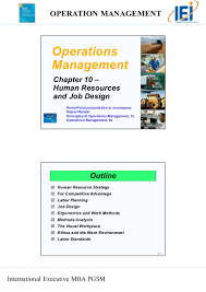 chapter 10 human resources and job design