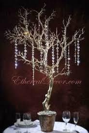 manzanita tree centerpieces manzanita tree centerpiece with crystals hanging diy or buy