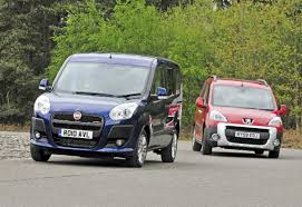 peugeot tepee fiat doblo vs peugeot tepee group test review auto express