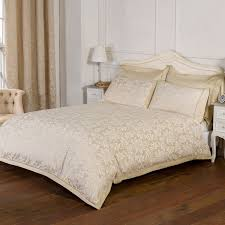 blenheim gold luxury jacquard duvet cover julian charles