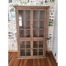 restoration hardware china cabinet restoration hardware hton casement glass hutch chairish