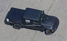 2018 jeep wrangler spy shots 2018 jeep wrangler pickup spy shot ms blog