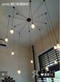 Spider Chandelier Edison Light Bulb Retro Cafe Restaurant Bar Bull Spider Chandelier